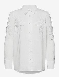 CUantoniett Lace Shirt - langermede skjorter - spring gardenia