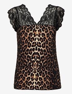 CUelona Leo Top - blouses zonder mouwen - black