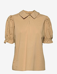 CUolena Blouse - blouses met korte mouwen - tannin