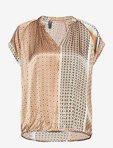 CUfiluka Capsleeve - blouses met korte mouwen - brown sugar