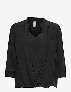 CUbianca Blouse - blouses met lange mouwen - black