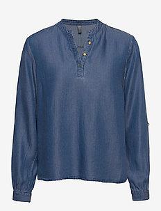 CUmindy Blouse - blouses met lange mouwen - dark blue wash