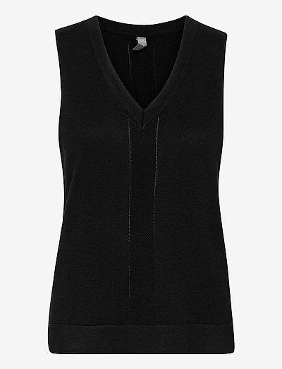 CUannemarie Drop Vest - strikveste - black
