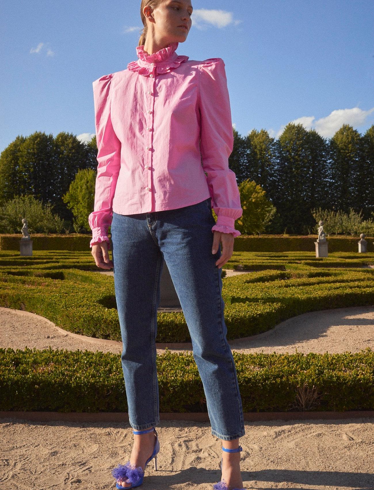 Custommade - Blanca - långärmade blusar - fuchsia pink - 0