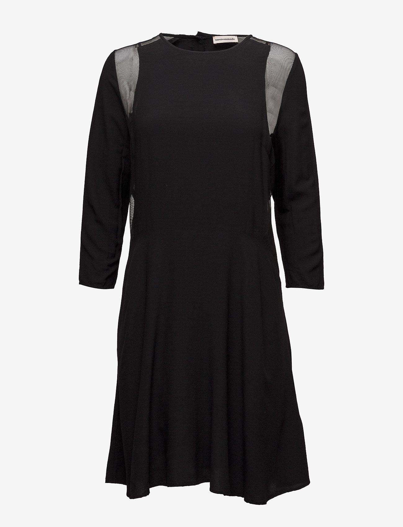 Custommade - Bahja - midiklänningar - anthracite black - 0