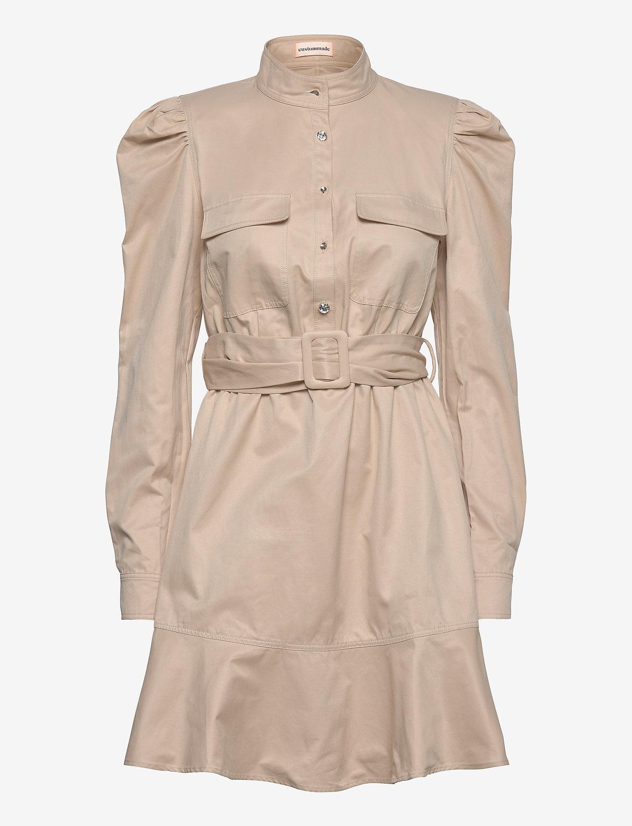 Custommade - Haniel - korta klänningar - cement - 0