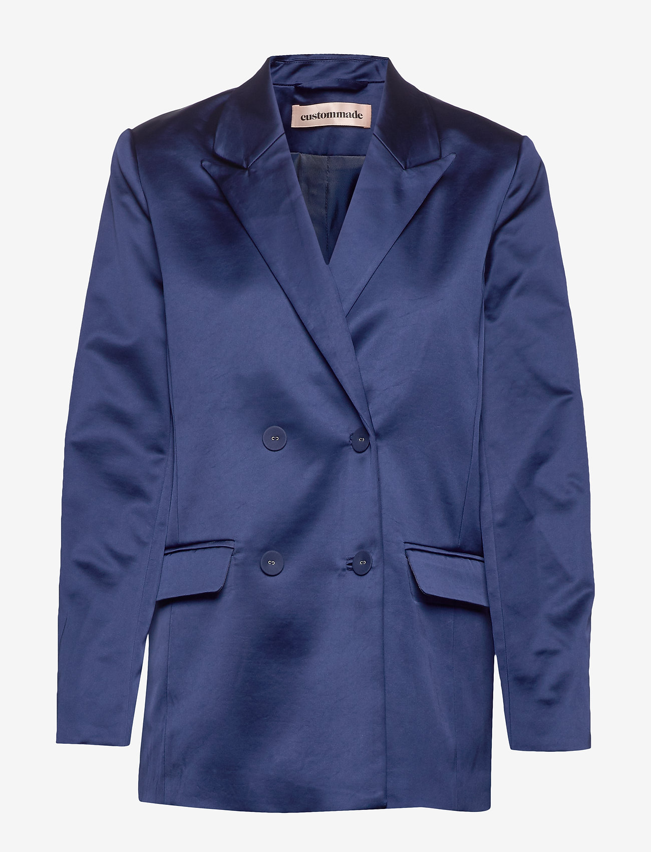 Custommade - Madelin Satin - blazers - estate blue - 0