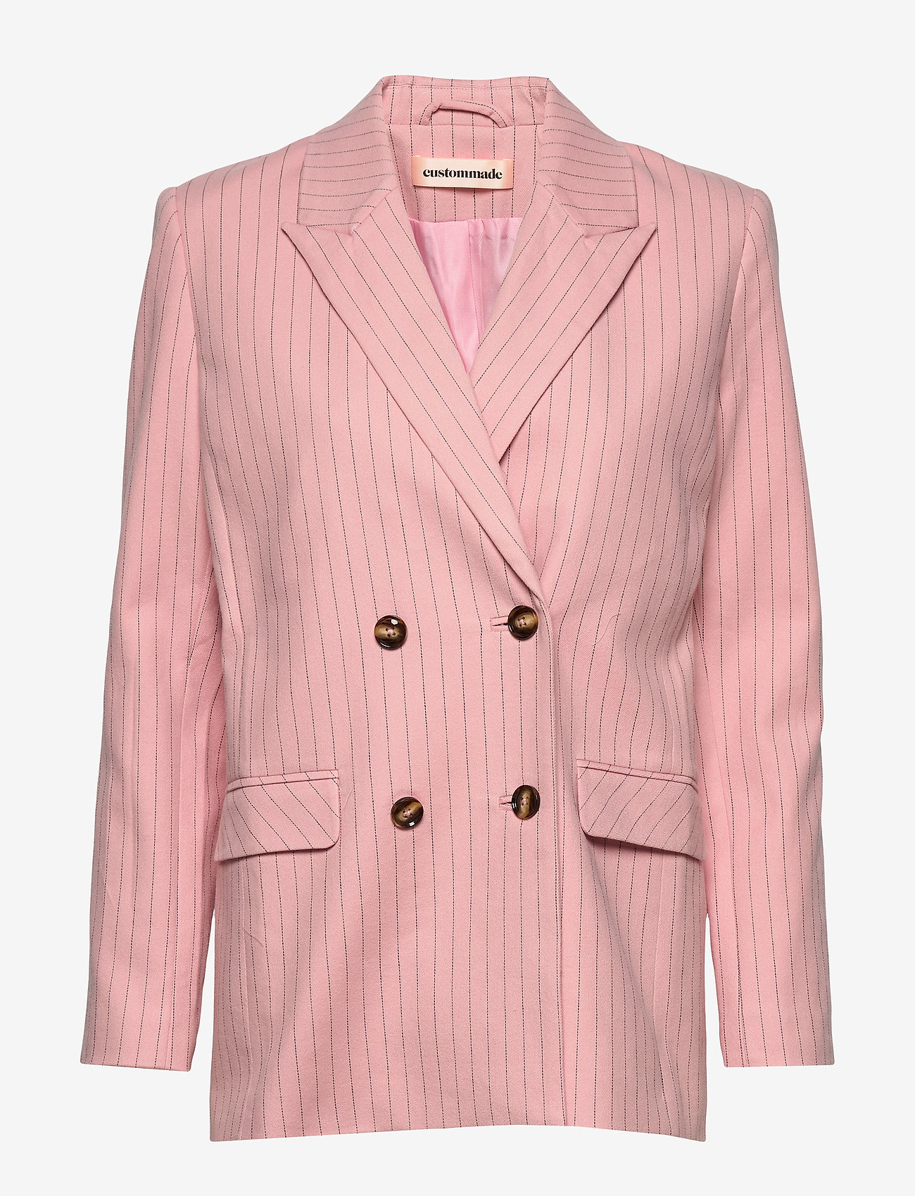 Custommade - Madelin Stripes - blazers - coral pink - 0