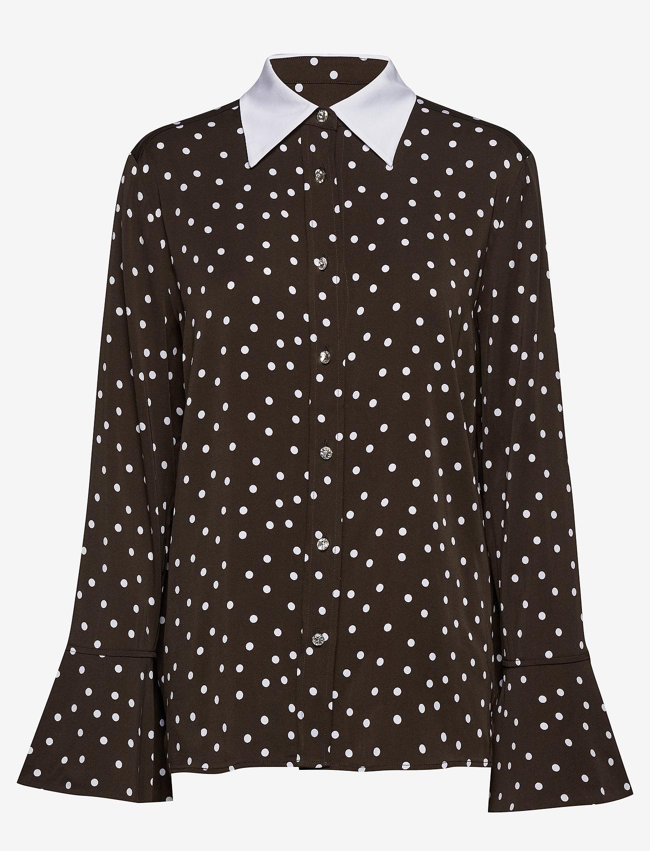 Custommade - Jelis - långärmade skjortor - mole brown - 0