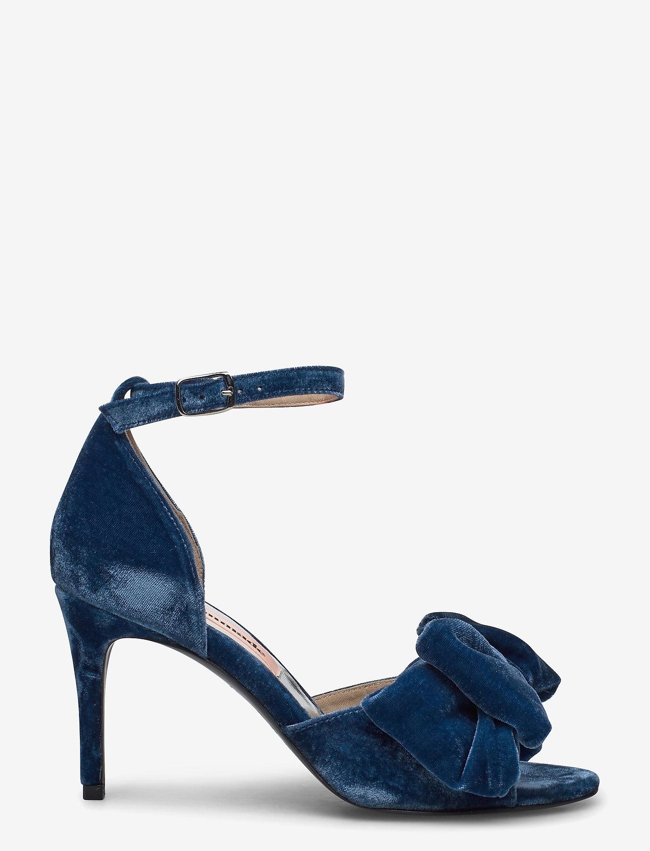 Custommade - Marita Velvet - korolliset sandaalit - midnight navy - 1