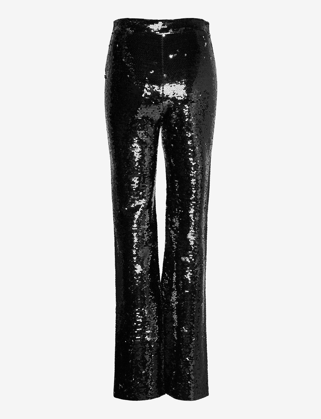 Custommade - Paola By NBS - raka byxor - anthracite black - 1