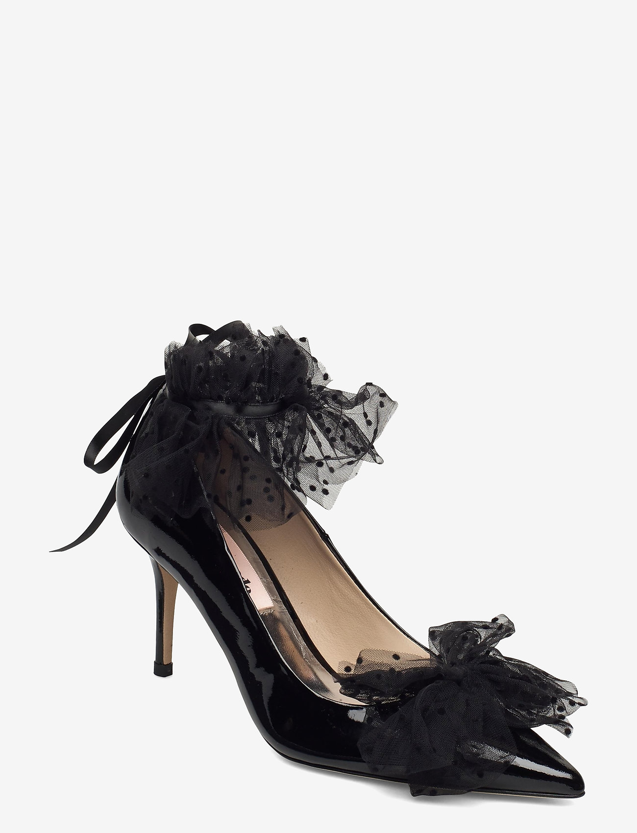 Custommade - Aljo Bow - klassieke pumps - anthracite black - 0