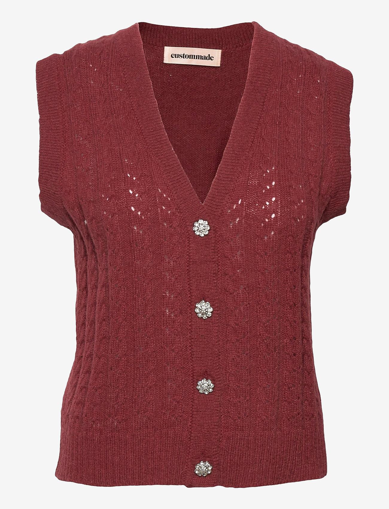 Custommade - Ellah - knitted vests - rum raisin brown - 0