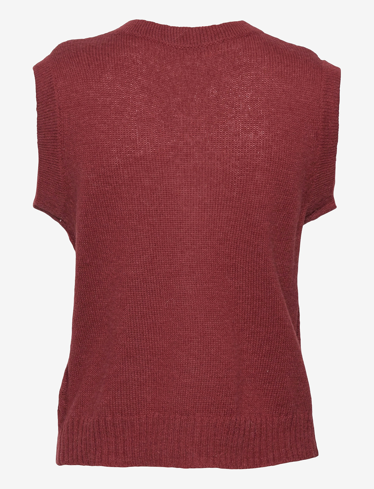 Custommade - Ellah - knitted vests - rum raisin brown - 1