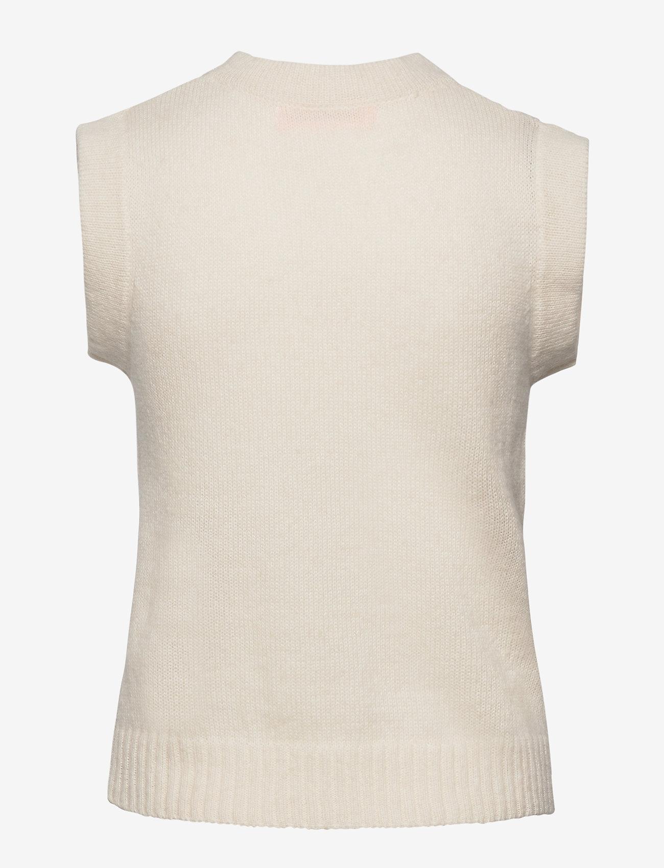 Custommade - Ellah - stickade västar - whisper white - 1