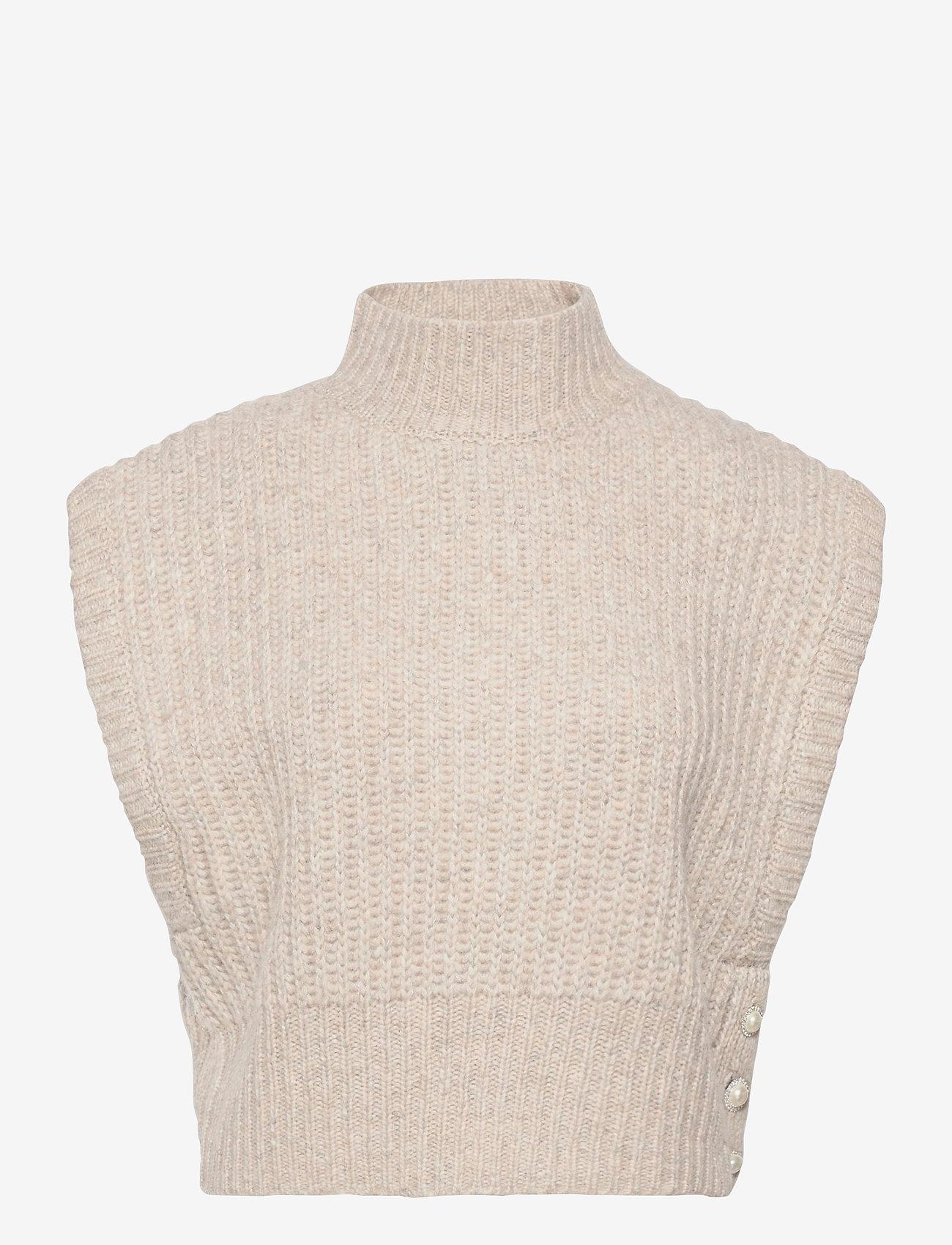Custommade - Elfi - knitted vests - fungi brown - 0