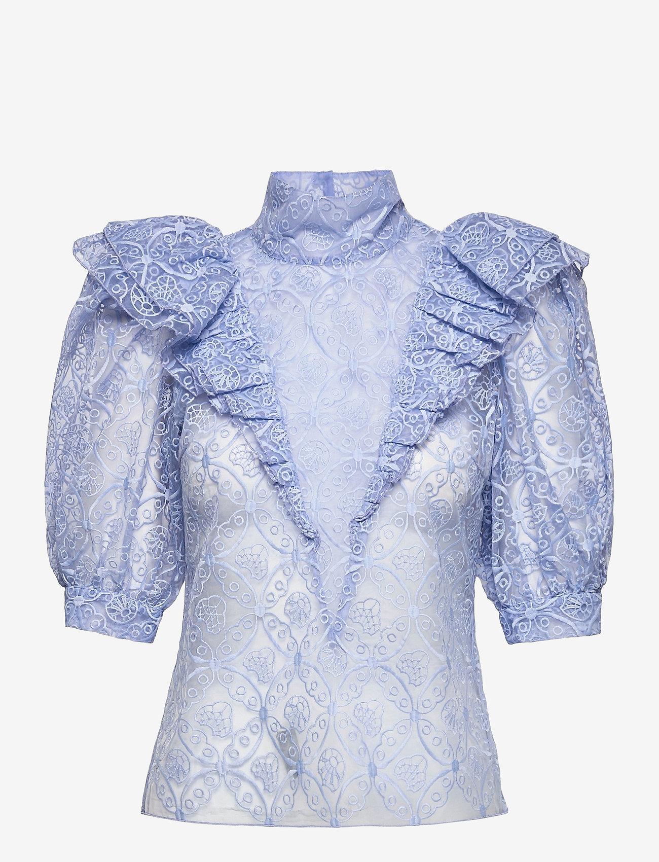 Custommade - Ofelia BY NBS - kortärmade blusar - powder blue - 0