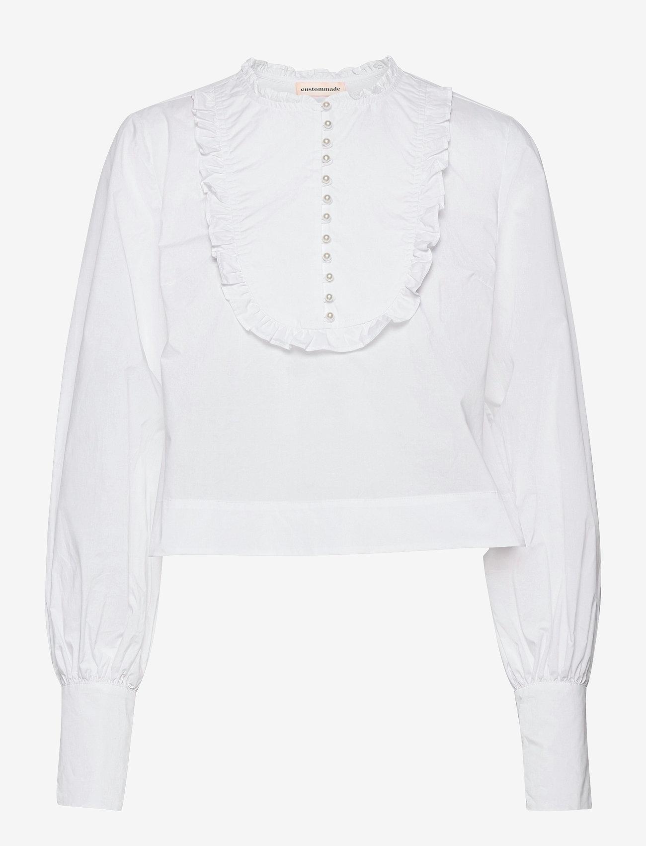 Custommade - Drine - långärmade blusar - bright white - 1