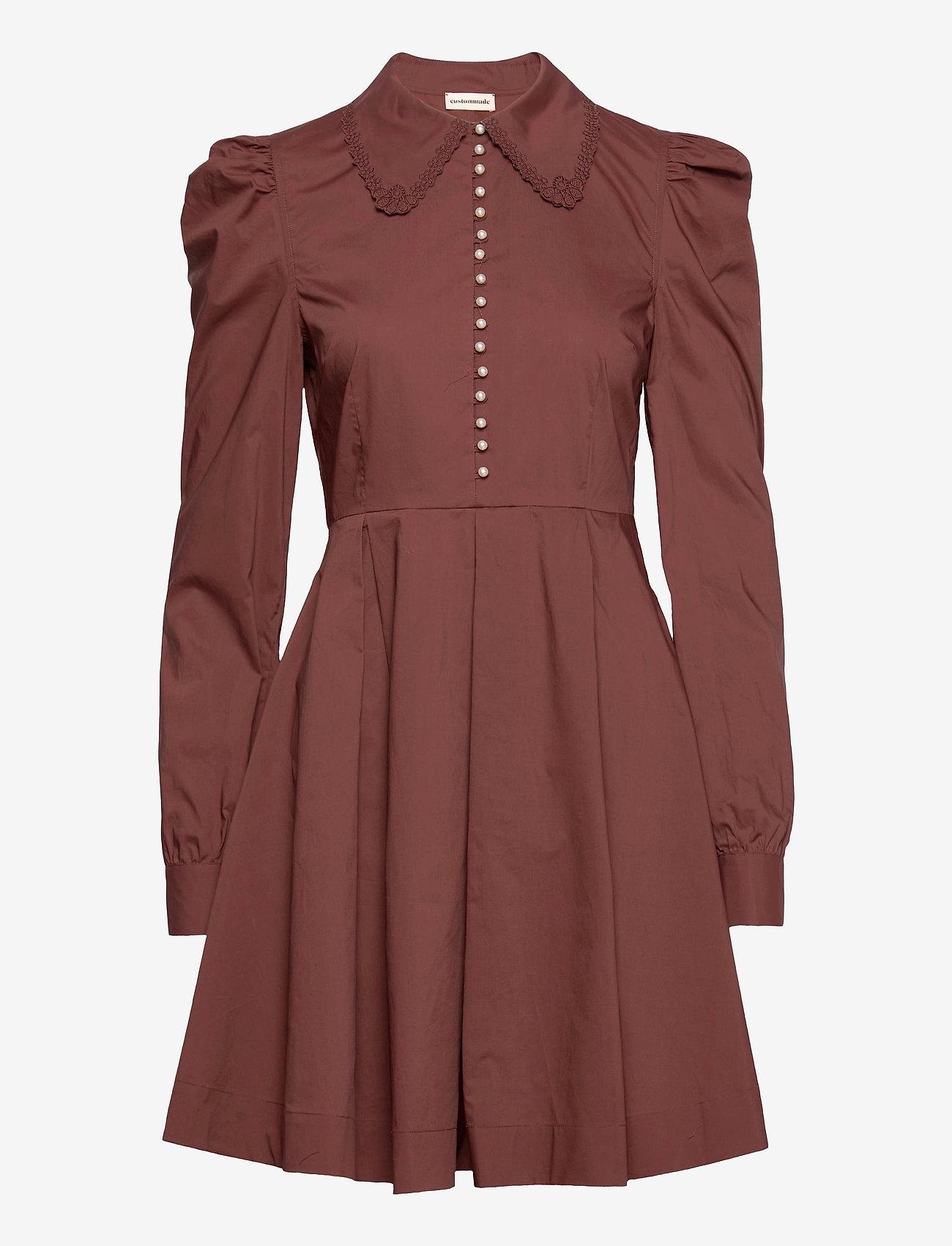 Custommade - Lucy - cocktailklänningar - rum raisin brown - 1