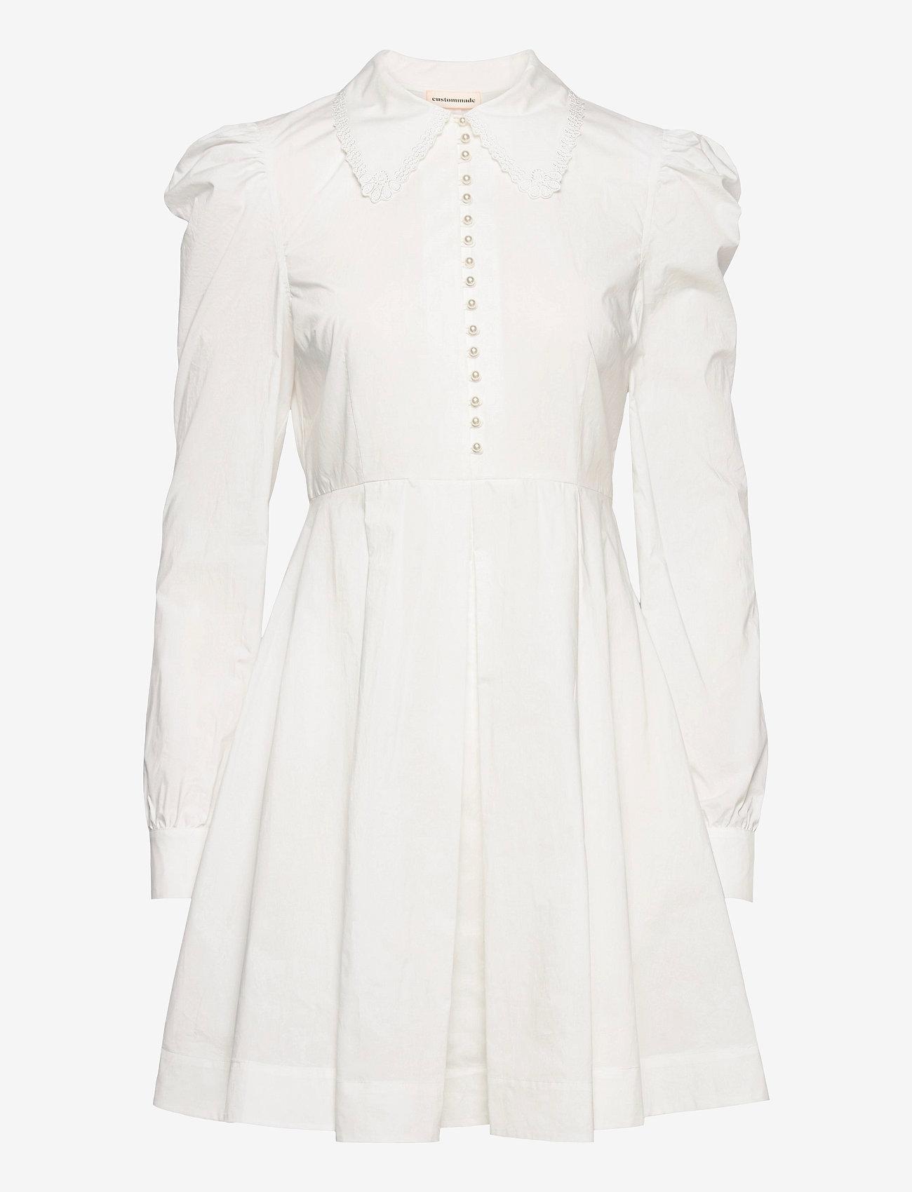 Custommade - Lucy - cocktailklänningar - whisper white - 0