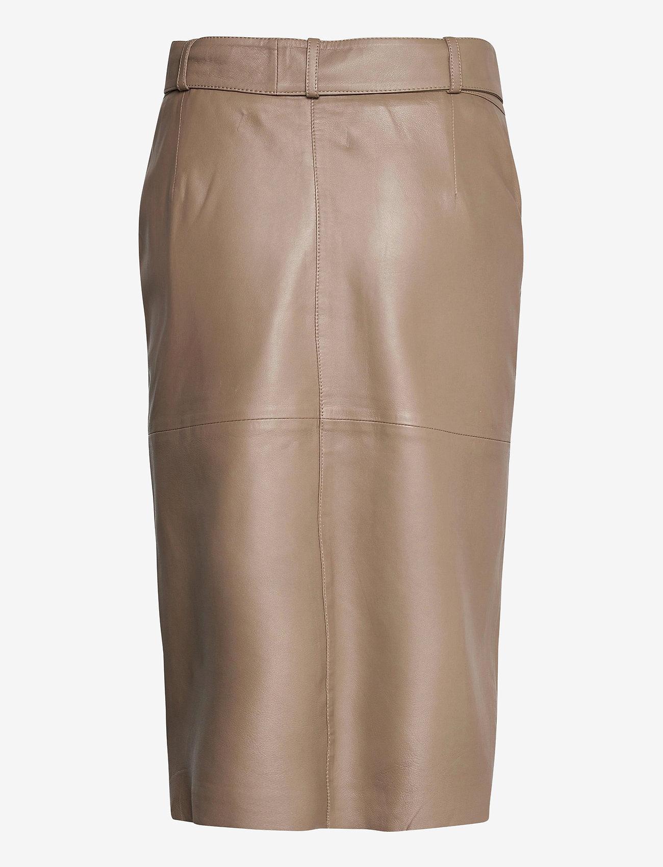 Custommade - Rinora - midi kjolar - fungi brown - 1