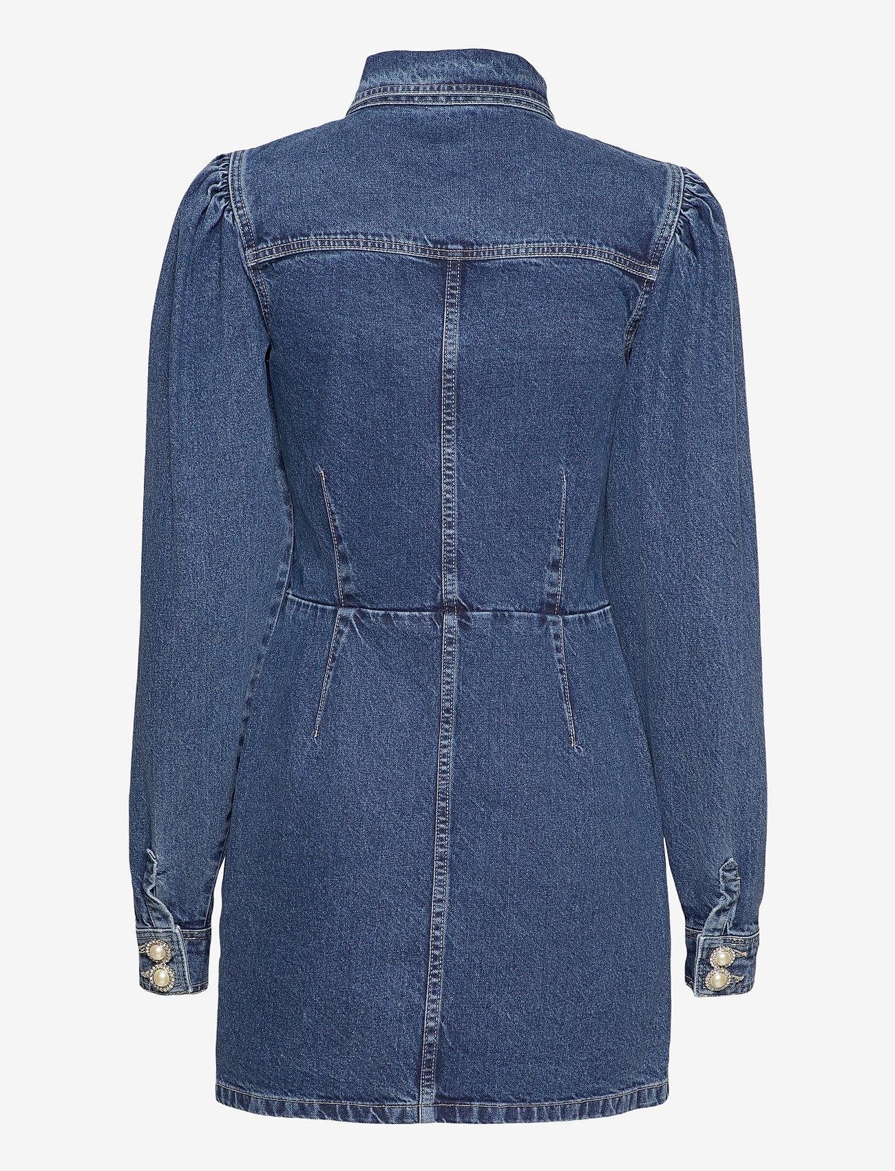 Custommade - Larin - skjortklänningar - dark denim - 1