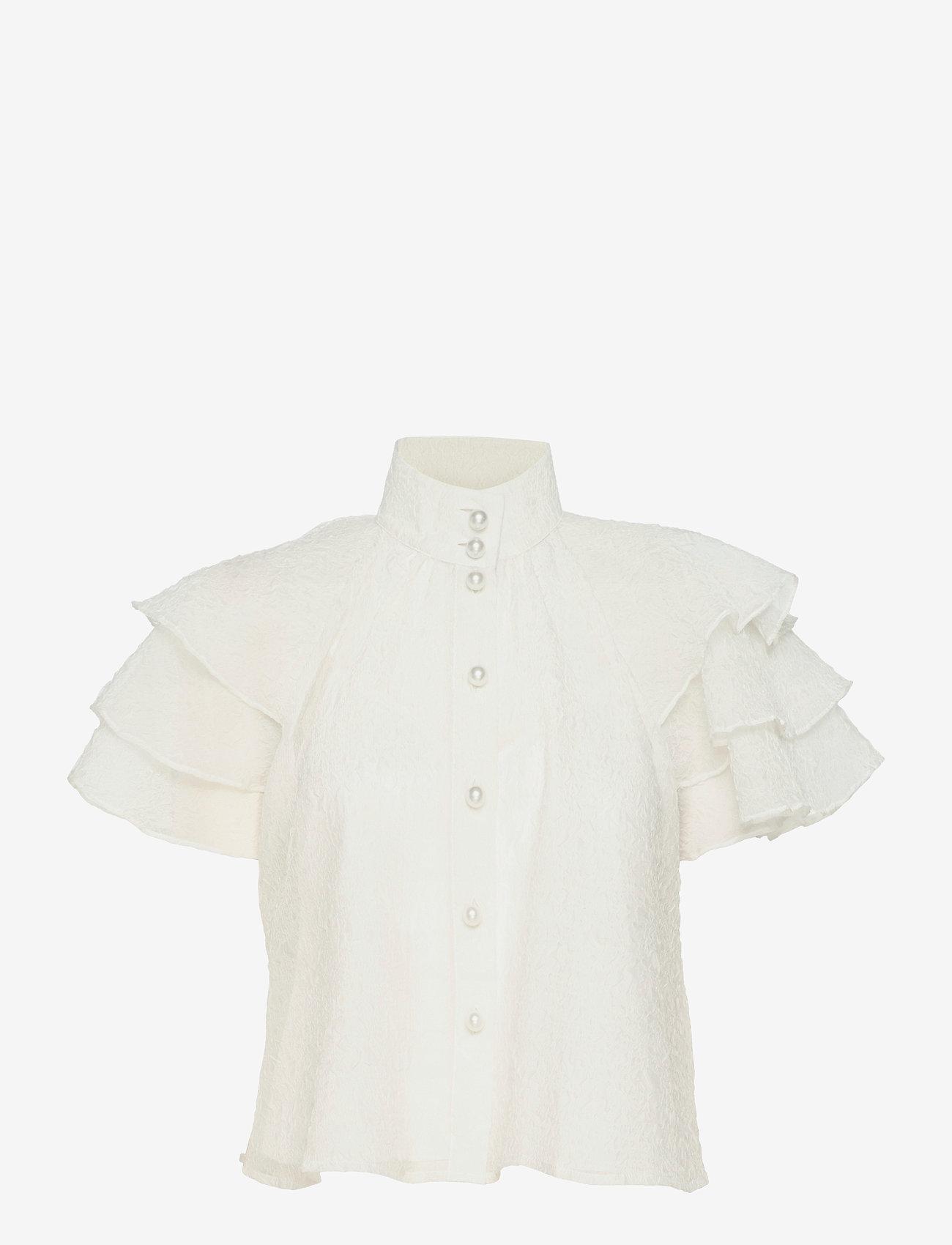 Custommade - Obia - kortærmede bluser - whisper white - 0