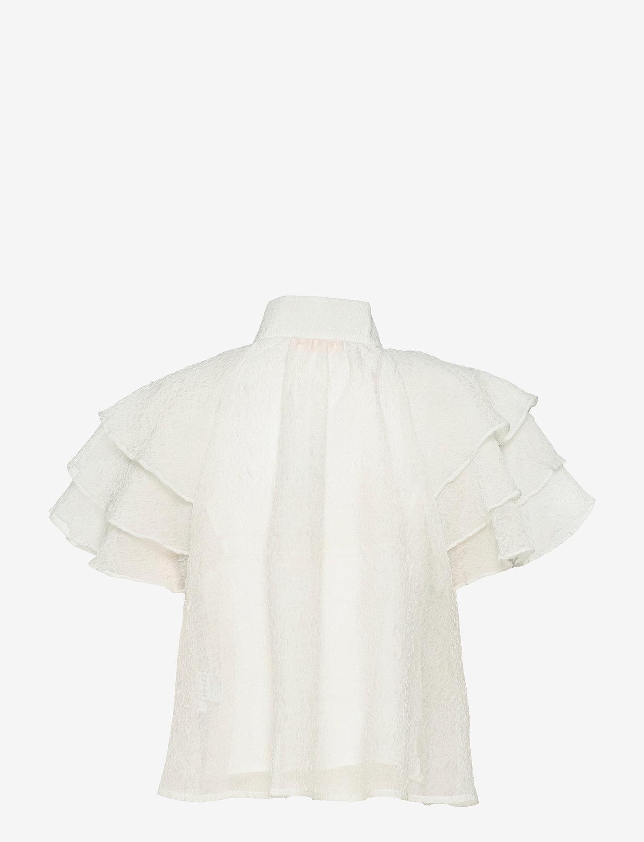 Custommade - Obia - kortærmede bluser - whisper white - 1