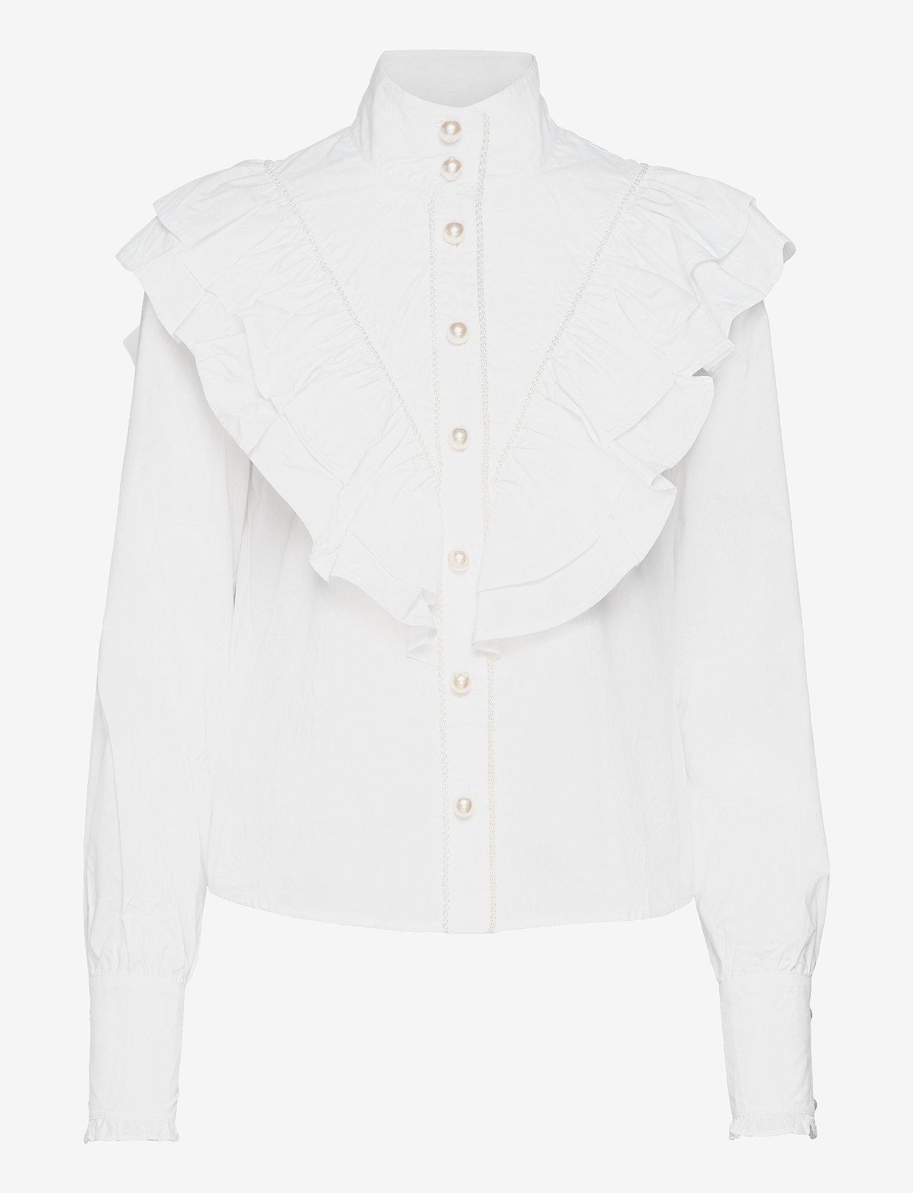 Custommade - Bibi - långärmade blusar - bright white - 0