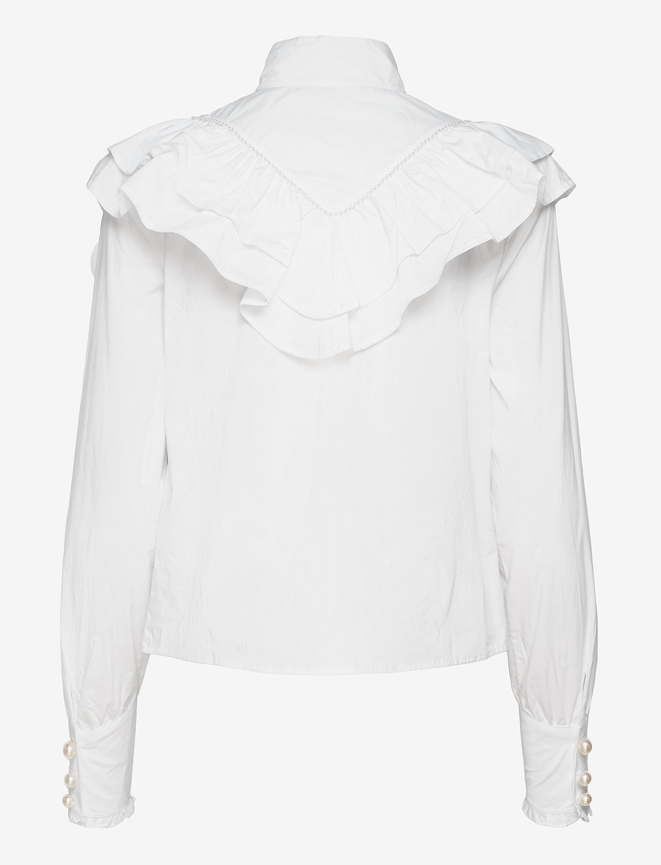 Custommade - Bibi - långärmade blusar - bright white - 1