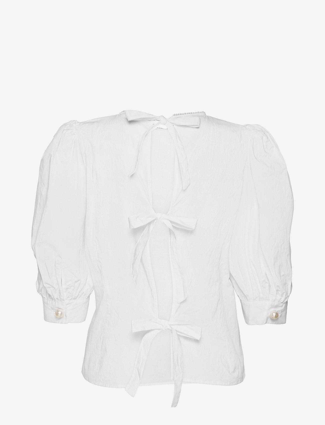 Custommade - Dido - kortärmade blusar - bright white - 1