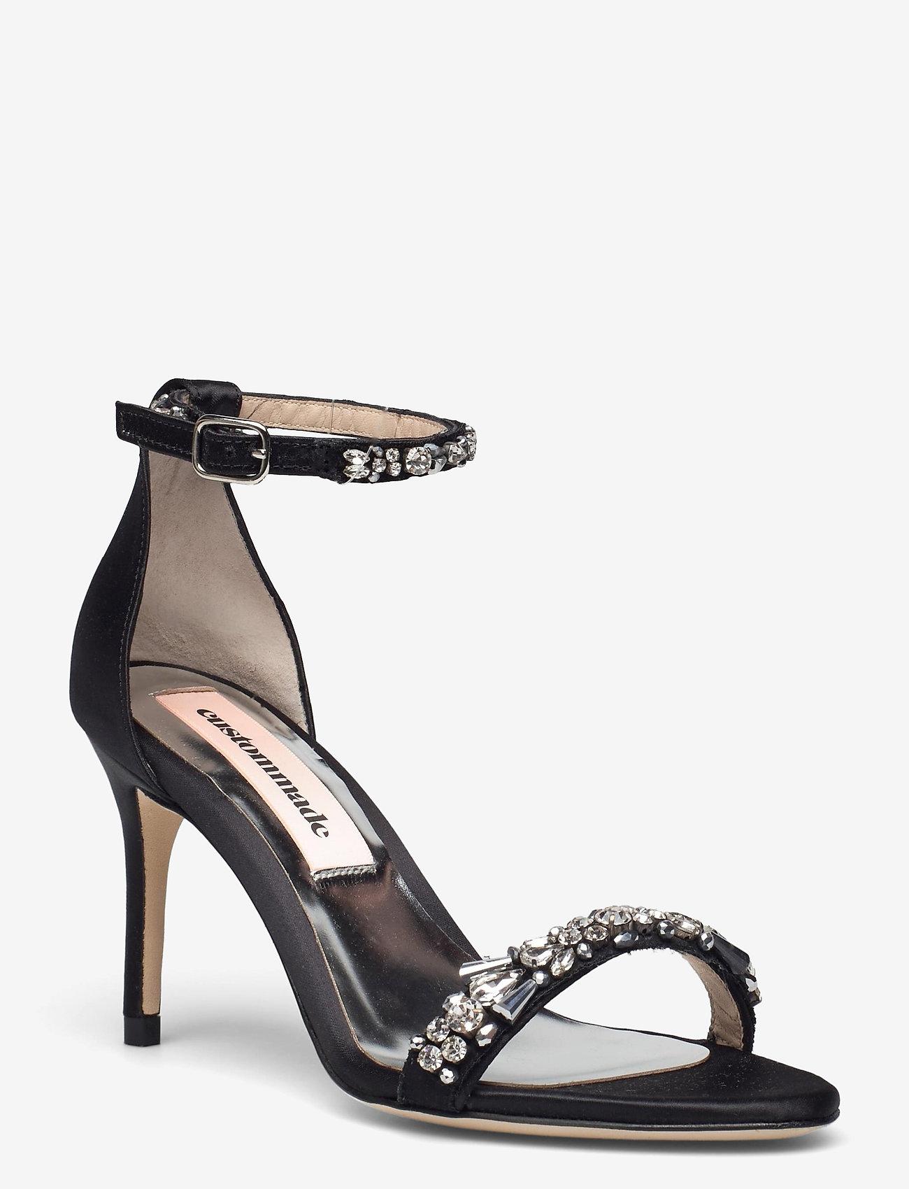Custommade - Maggie Crystal - högklackade sandaler - anthracite black - 1