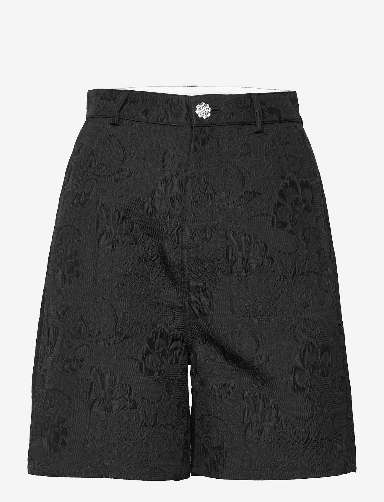 Custommade - Nanette BY NBS - bermudashorts - anthracite black - 1