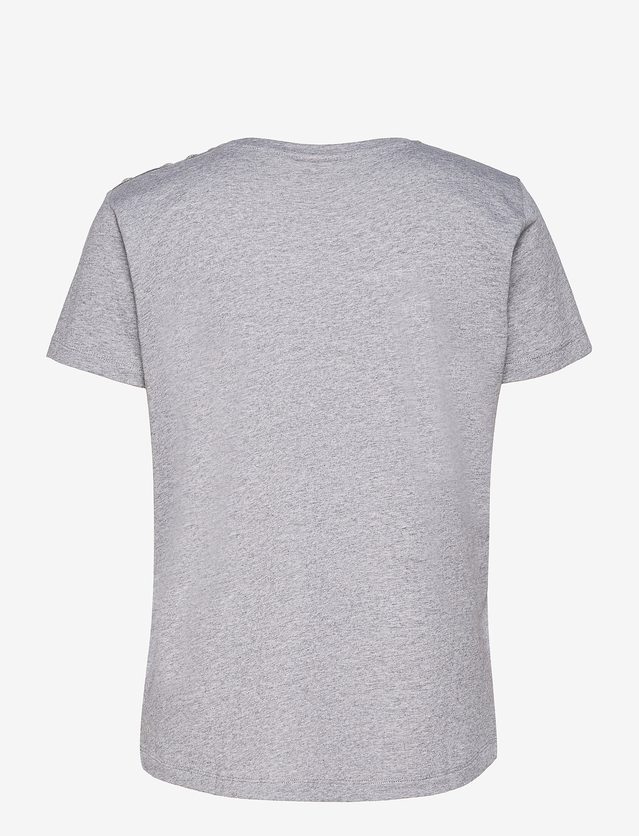 Custommade - Molly Pearl - t-shirts - grey melange - 1