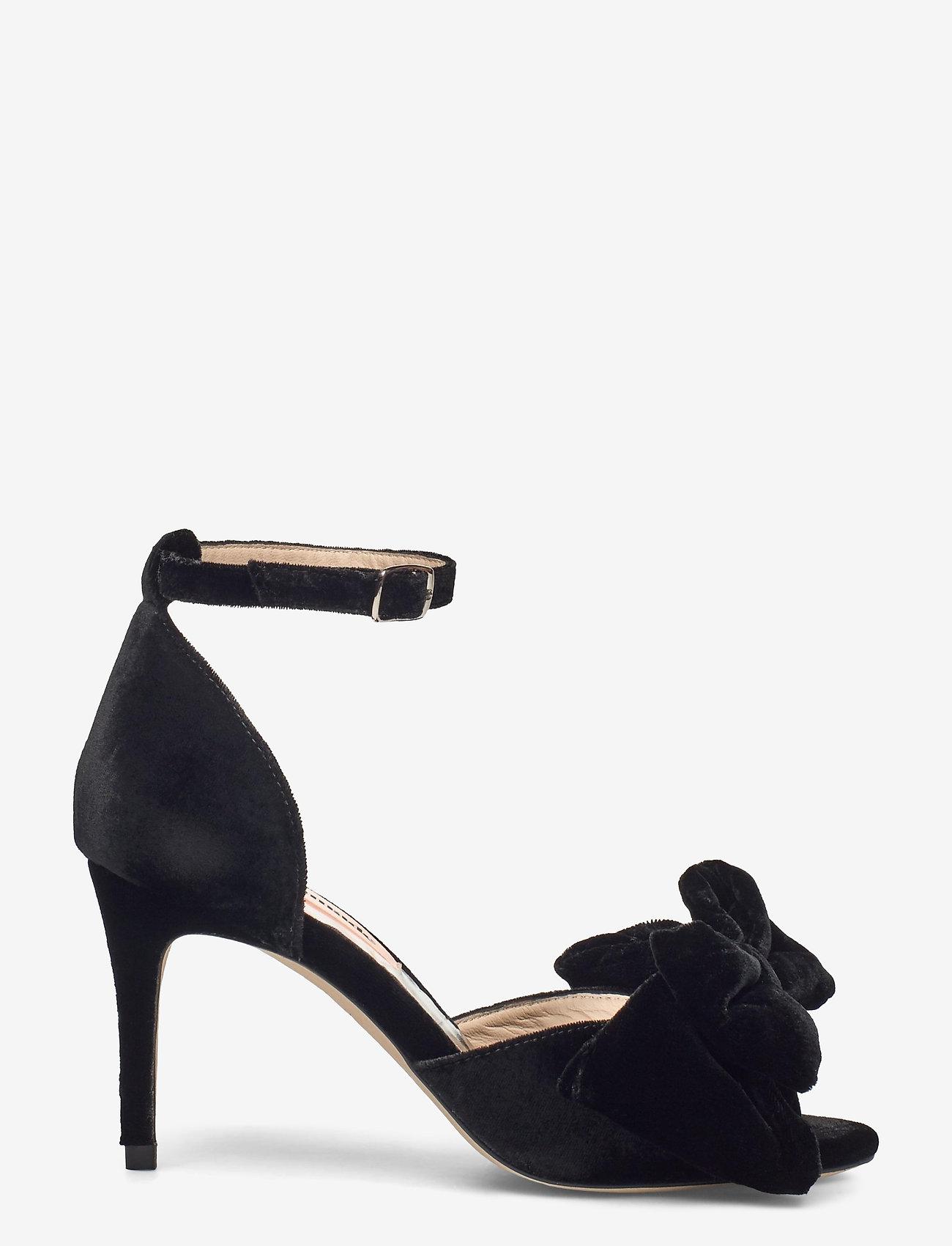 Custommade - Marita Velvet - sandalen met hak - anthracite black - 1