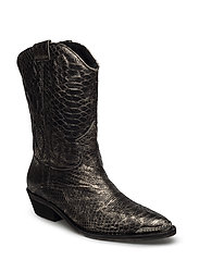 High boot - SILVER SNAKE