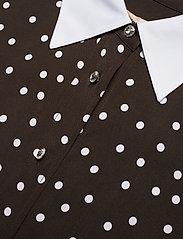 Custommade - Jelis - långärmade skjortor - mole brown - 2