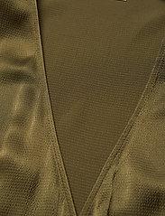 Custommade - Dristi - långärmade blusar - dark olive - 2