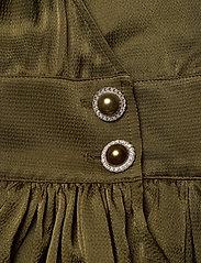 Custommade - Dristi - långärmade blusar - dark olive - 3