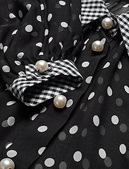 Custommade - Betsy - långärmade blusar - black / white - 3