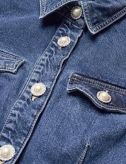 Custommade - Larin - skjortklänningar - dark denim - 2