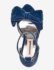 Custommade - Marita Velvet - korolliset sandaalit - midnight navy - 3