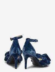 Custommade - Marita Velvet - korolliset sandaalit - midnight navy - 4