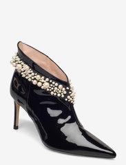 Custommade - Abbygail Pearl - enkellaarsjes met hak - anthracite black - 0