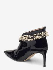 Custommade - Abbygail Pearl - enkellaarsjes met hak - anthracite black - 2