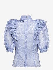 Custommade - Ofelia BY NBS - kortärmade blusar - powder blue - 1