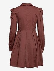 Custommade - Lucy - cocktailklänningar - rum raisin brown - 2