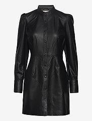 Custommade - Loulou - skjortklänningar - anthracite black - 0