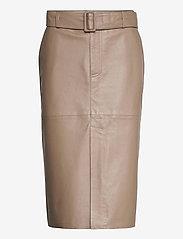 Custommade - Rinora - midi kjolar - fungi brown - 0