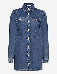 Custommade - Larin - skjortklänningar - dark denim - 0